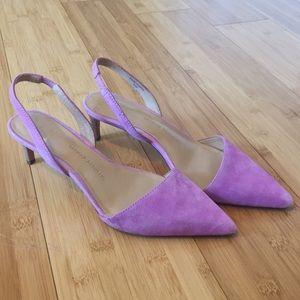 Banana Republic Hedy Lavender Suede Kitten Heel